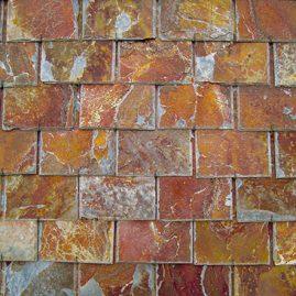 Piedras Segovia - Cubiertas - Pizarra: Filita roja cortada