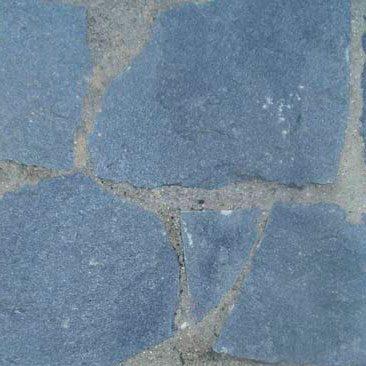Piedras Segovia - Piedras irregulares: Cuarcita gris - azulada